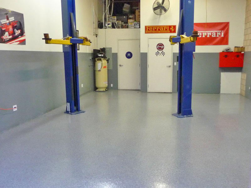 Epoxy Floor Auto Repair Shop Yorba Lindaaaadvantage