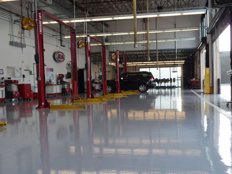 Auto Repair Garage Floor Plans: Epoxy Floor Coatings